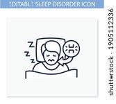 teeth grinding line icon. sleep ... | Shutterstock .eps vector #1905112336