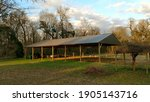 Agricultural Tractor Shed With...