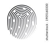 fingerprint thin line icon.... | Shutterstock .eps vector #1905160330