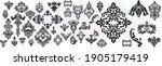 set vintage baroque frame... | Shutterstock .eps vector #1905179419