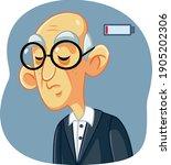 tired senior man with dark...   Shutterstock .eps vector #1905202306