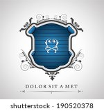 vintage emblem with a place for ... | Shutterstock .eps vector #190520378