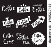 set  collection of coffee... | Shutterstock .eps vector #1905217486