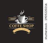 coffee shop logo design... | Shutterstock .eps vector #1905220216