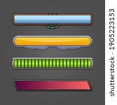 game ui kit with status bars...