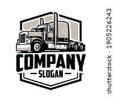 Trucking Company Logo  Semi...