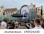 wroclaw   may 1   the fans of... | Shutterstock . vector #190524230