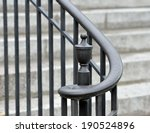 iron handrail  volute and... | Shutterstock . vector #190524896