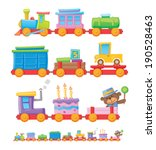 colorful toy train | Shutterstock .eps vector #190528463