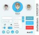 blue ui with illustrated avatars