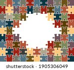 colorful background puzzle ... | Shutterstock .eps vector #1905306049