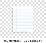 paper sheet on transparent... | Shutterstock .eps vector #1905306859