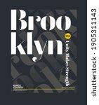 brooklyn  modern and stylish... | Shutterstock .eps vector #1905311143
