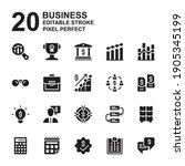 icon set of business. filled ...