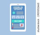 covid 19 coronavirus update on... | Shutterstock .eps vector #1905352663