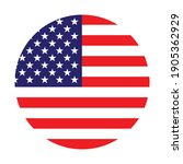 the round american flag. star... | Shutterstock .eps vector #1905362929