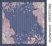 abstract scarf pattern with... | Shutterstock .eps vector #1905371386