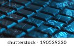 computer keyboard with glowing... | Shutterstock . vector #190539230