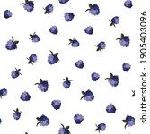 berries vector pattern ornament ... | Shutterstock .eps vector #1905403096