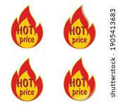 sticker or label with flame.... | Shutterstock .eps vector #1905413683