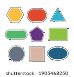 set of colored fields for text  ... | Shutterstock .eps vector #1905468250