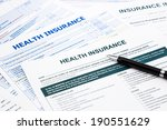 health insurance form ... | Shutterstock . vector #190551629
