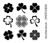 vector icons of shamrock and... | Shutterstock .eps vector #190551800