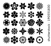 Black And White Vector Flowers...