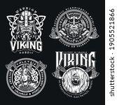 vintage viking monochrome...   Shutterstock .eps vector #1905521866