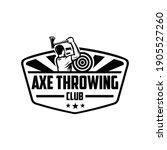 axe throwing club logo template ... | Shutterstock .eps vector #1905527260