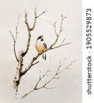 Bullfinch On A Bare Branch....