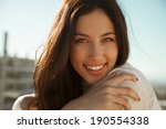 wonderful smiling woman with a... | Shutterstock . vector #190554338
