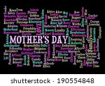 mother's day word cloud tag...