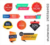 best price super sale mega sale ... | Shutterstock .eps vector #1905564403
