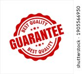 best quality gurantee red seal... | Shutterstock .eps vector #1905566950