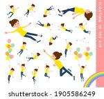 a set of women floating in the... | Shutterstock .eps vector #1905586249
