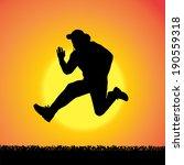 vector silhouette of man who...   Shutterstock .eps vector #190559318