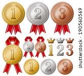 medals | Shutterstock .eps vector #190560569