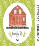 country life design card | Shutterstock .eps vector #190561136