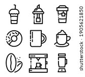 set  colletion of coffe shop ... | Shutterstock .eps vector #1905621850