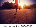 runner athlete running at road. ... | Shutterstock . vector #190563500