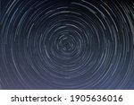 star trails in a night sky ...   Shutterstock .eps vector #1905636016