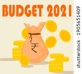 union budget of indian 2021 ... | Shutterstock .eps vector #1905651409