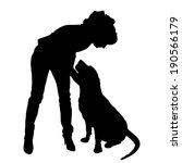 vector silhouette of people... | Shutterstock .eps vector #190566179