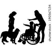 vector silhouette of family on... | Shutterstock .eps vector #190567154