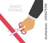 grand opening concept. hands...   Shutterstock .eps vector #1905675709