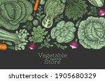 hand drawn vintage color... | Shutterstock .eps vector #1905680329
