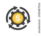 development cost icon. gray... | Shutterstock .eps vector #1905687016