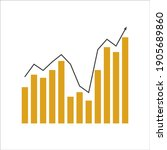 vector image of a graph with an ... | Shutterstock .eps vector #1905689860
