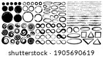set of hand painted ink circles ... | Shutterstock .eps vector #1905690619